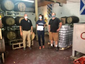 Small Business Award Presented with Sen. Martwick to Lake Effect Brewing