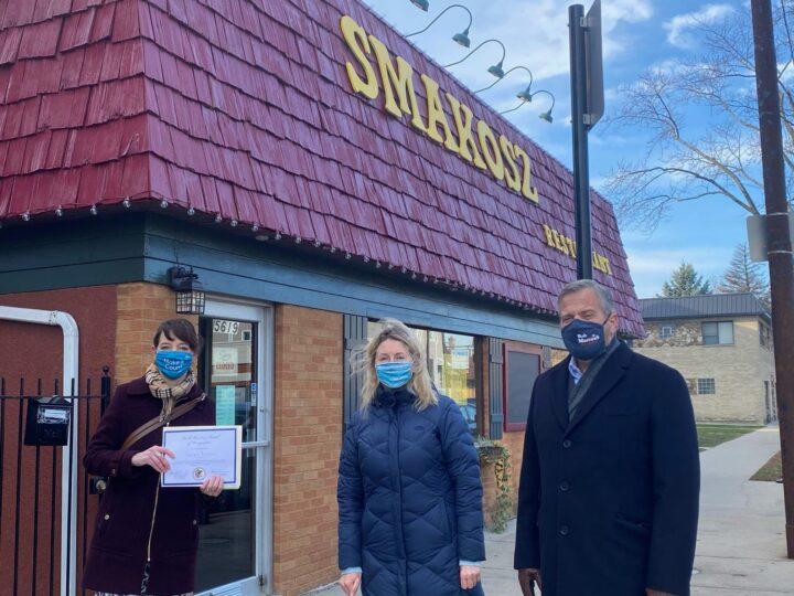 Smakosz Restaurant Presented Small Business Award