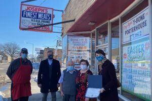 Rep. LaPointe and Senator Martwick Present Small Business Award to Joseph's Finest Meats