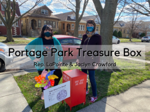 Rep. LaPointe Visits Jaclyn Crawford's Portage Park Treasure Box: Watch the Video Below